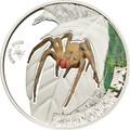 Brazilian Wandering Spider - 5$ Cook Island Silver Coin 2011