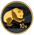 10 Y Panda - Gold Black Empire Coin China 2016