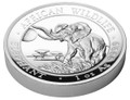 2016 Somalia~High Relief African Wildlife ELEPHANT 1oz Silver Coin