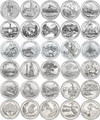 National Park Quarters 2010 - 2015 D Unc set of 30 coins