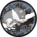 Panda Deep Frozen 10 Y 1oz Silver Ruthenium & Platinum PL Coin