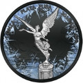 Libertad Deep Frozen Edition 1oz .999 pure silver, full ruthenium & partly platinum plated coin.