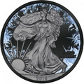 Walking Liberty Deep Frozen $1 1oz Silver Ruthenium & Platinum PL Coin 2016