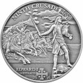 8th. CRUSADE - Edward I of England Silver Coin 5$ Cook Islands 2016