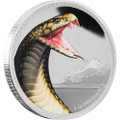 KING COBRA - Kings of Continents - 1 oz  Silver Coin Niue 2016