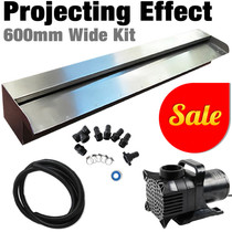 ENERGY SAVER 600-Water Wall Feature Projecting Effect Kit-600mm Wide Spillway