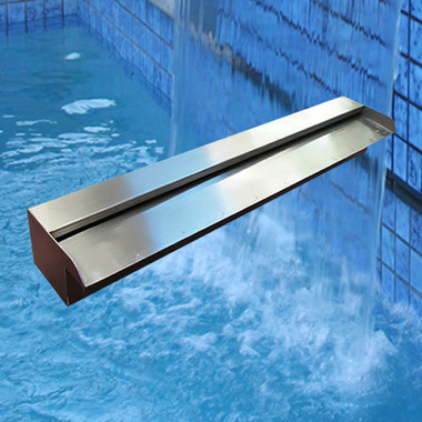 Water feature stainless steel spillway water blade for Qut garden pool