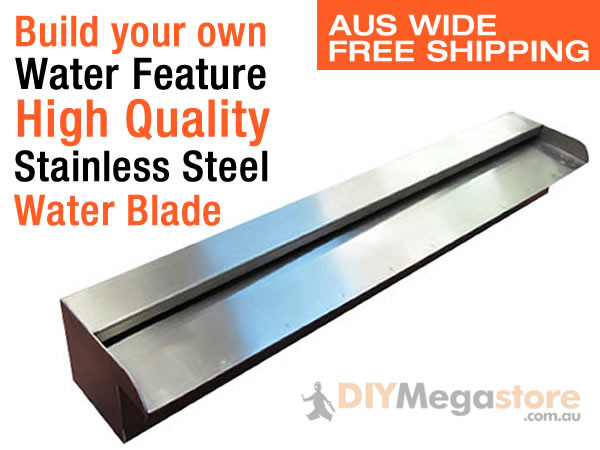 Water feature spillways 316 stainless steel 900mm wide ebay for Make your own pond filter box
