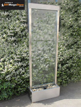 Stainless Steel Clear Glass Freestanding 600mm Wide x 1830mm High