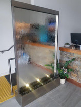 Stainless Steel Mirror Wall Freestanding 1200mm Wide x 2000mm High