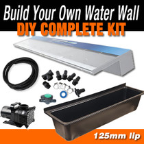 ACRYLIC1200P125 - Waterfall Projecting Effect - 1200mm x 125mm Lip Blade Kit with 1600mm Wide Trough