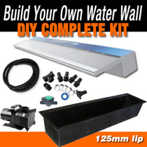 ACRYLIC1500C125 - Waterfall Cascade Effect - 1500mm x 125mm Lip Blade Kit with 2200mm Wide Trough