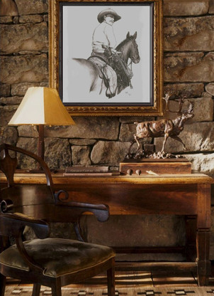 In a Rustic Western Interior Architectural setting