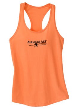 Anglers Women's Racerback Tank-Coral