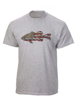 Anglers Bass Tee-Grey