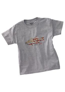 Anglers Kid Tee Shirt-Sport Grey