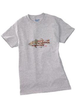 Anglers Kid Tee Shirt-Grey