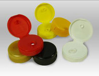 38mm Flip Top Lids for Plastic w/pressure sensitive seals (standard colors)