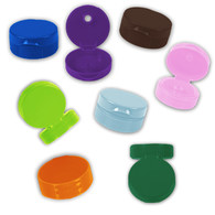 38mm Rainbow Flip Top Lids for Plastic w/pressure sensitive seals