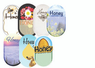 """Blank """"Honey"""" Labels (roll of 250)"""