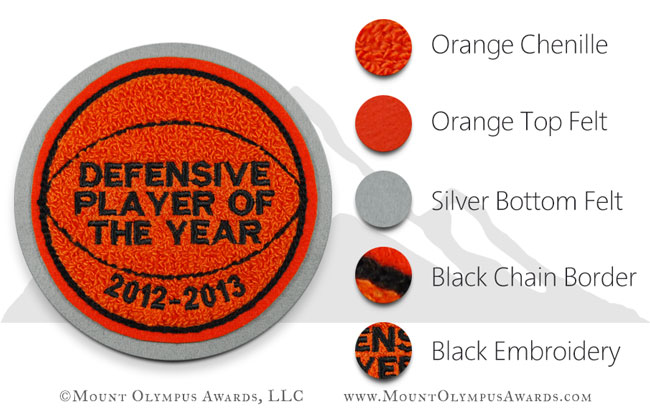 Basketball Sports Patch for Varsity Jacket
