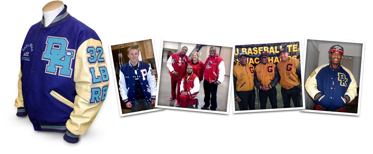 Custom Designed Letterman Jackets at Mount Olympus Awards and A Few of Our Thousands of Satisfied Customers