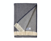 Herringbone Collection - Navy Cotton Blanket
