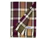 Plaid Collection - Plum, Olive, and Tan Cotton Blanket