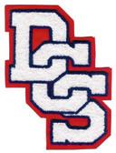 Single Felt 3 Letter Interlocking Chenille Varsity Letter Monogram