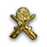 Crossed Rifles Varsity Letter Pins