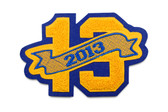 """3"""" Double Felt Letterman Jacket Number with Embroidered Banner"""