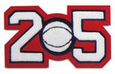 "3"" Double Felt Letterman Jacket Number with Sport Insert"