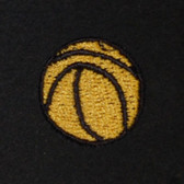 Basketball Embroidered Swiss Insert