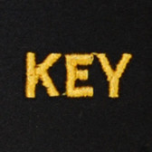 Key Embroidered Swiss Insert