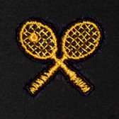 Tennis Rackets Embroidered Swiss Insert