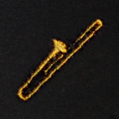 Trombone Embroidered Swiss Insert