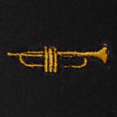 Trumpet Embroidered Swiss Insert