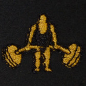 Weightlifter Embroidered Swiss Insert