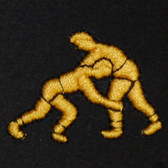 Wrestlers Embroidered Swiss Insert