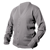 Heather Grey Letterman Sweater