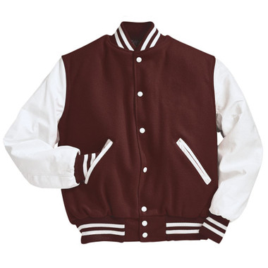 and White Varsity Letterman Jacket