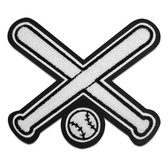 Crossed Bats Sports Patch