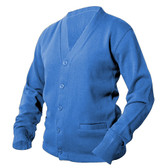 Powder Blue Letterman Sweater