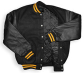 Black and Gold Varsity Letterman Jacket