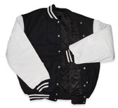Dark Navy and White Varsity Letterman Jacket