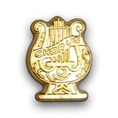 Chorus Lyre Varsity Letter Pin
