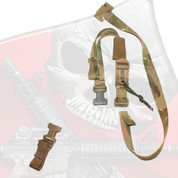Individual DBA-SIM (SWAT/IOTV/MTV) Sling for Auxillary Weapon on Body Armor with Weapons Catch