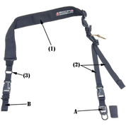 This photo shows the basic RUSH Sling transformed into a two point sling for dual point sling use.