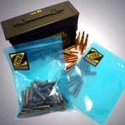 """ZCORR LARGE PARTS & AMMO POUCH 5 pack 8"""" x 11"""" Sealable for 30cal ammo cans"""