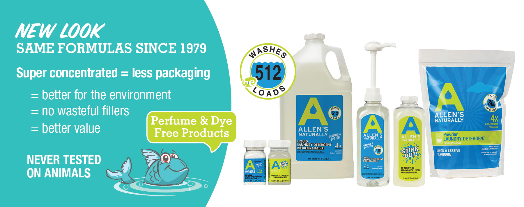 Making Perfume & Dye Free Laundry Detergent and cleaning products since 1979